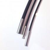 Kautschukcollier mit integrierten Stahlseil für Sie und Ihn 1.6 / 2.0 mm